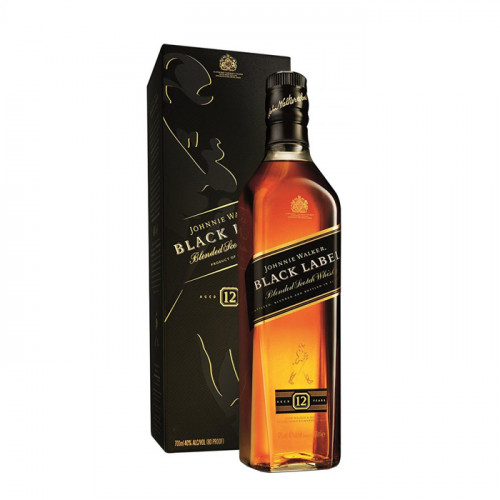 Johnnie Walker Black Label 12 Year Old - 700ml   Blended Scotch Whisky