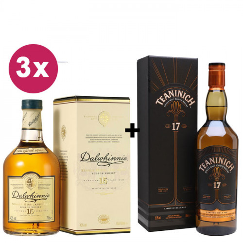 Diageo Bundle   1 Teaninich 17 Year Old + 3 Dalwhinnie 15 Year Old