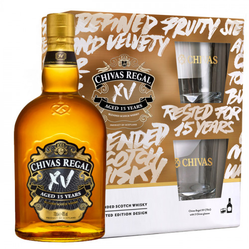 Chivas Regal XV 15 Year Old - Gift Pack | Blended Scotch Whisky