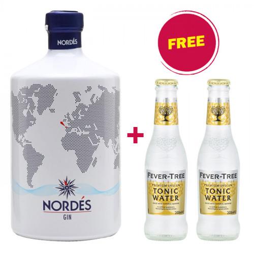 BUY 1 Nordés Gin GET 2 FREE Fever Tree Indian Tonic