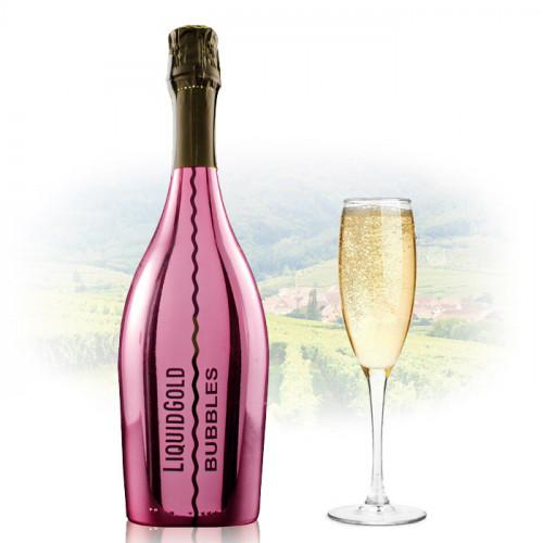 Liquid Gold Prosecco Elegant Bubbles PINK   Sparkling Wine