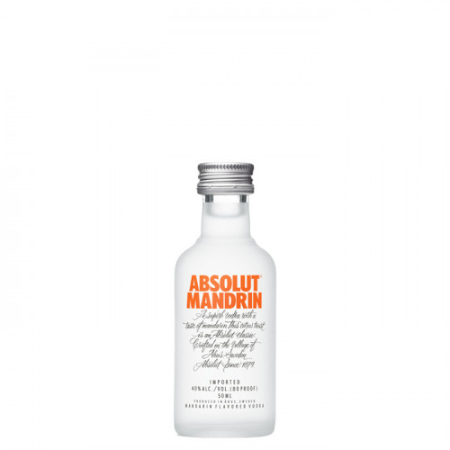 Absolut - Mandrin - 50ml Miniature   Swedish Vodka