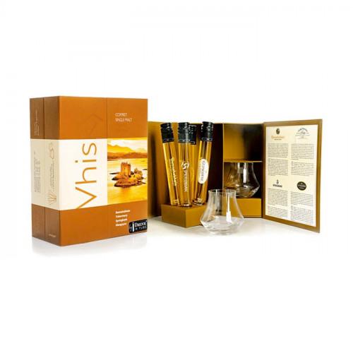 The Whisky Treasure Box: Set of 4 Whiskies in Tube