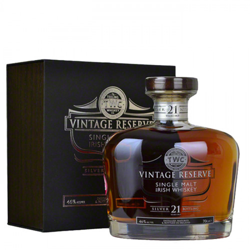 Teeling Silver Vintage Reserve 21 Year Old   Irish Whiskey