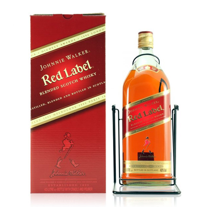 This is a graphic of Effortless Johnnie Walker Red Label 1l Price in India