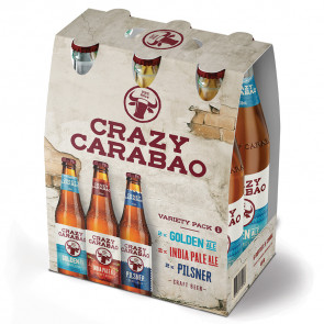 Crazy Carabao - Variety Pack 1 - 6 x 330ml (Bottle) | Philippines Beer