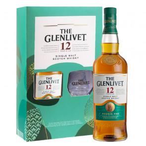 The Glenlivet - 12 Year Old - Double Oak - 700ml (Gift Set) | Single Malt Scotch Whisky