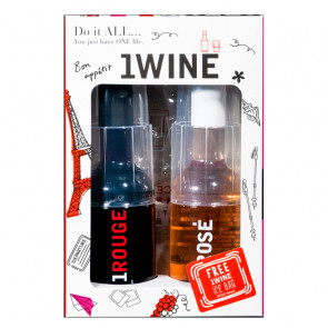 1WINE Whimsical Duo | 1WINE's Red & Rose