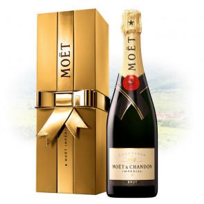 Moët & Chandon Brut Impérial 75cl in Golden Ribbon Box   Champagne