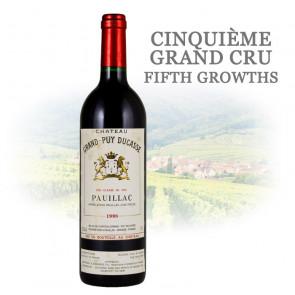 Château Grand-Puy Ducasse Pauillac (Grand Cru Classé) 1998 | Wine