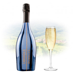 Liquid Gold Prosecco Elegant Bubbles BLUE | Sparkling Wine Philippines