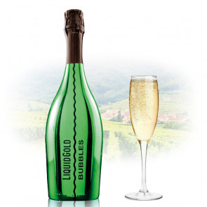 Liquid Gold Prosecco Elegant Bubbles GREEN | Sparkling Wine