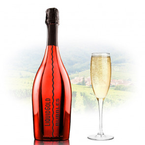 Liquid Gold Prosecco Elegant Bubbles RED | Sparkling Wine