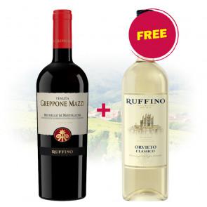 BUY Ruffino - Greppone Mazzi Brunello Di Montalcino GET 1 FREE Ruffino - Orvieto Classico Bianco