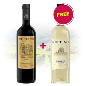 BUY 1 Ruffino - Riserva Ducale Oro Chianti Classico GET 1 FREE Ruffino - Orvieto Classico Bianco