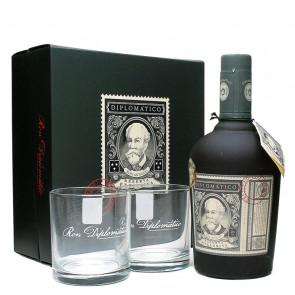 Rum Diplomático Reserva Exclusiva - 700ml Pack (with 2 glasses)   Venezuelan Rum