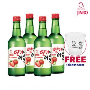 Jinro Chamisul - Strawberry | Korean Soju