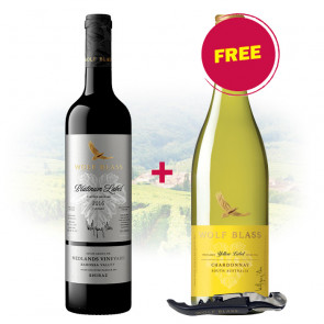 BUY 1 Wolf Blass - Platinum Label Shiraz GET 1 FREE Wolf Blass - Yellow Label - Chardonnay AND 1 Bottle Opener